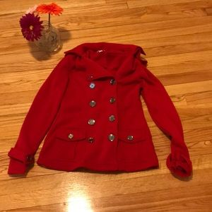 Bongo Red Peacoat Size Small
